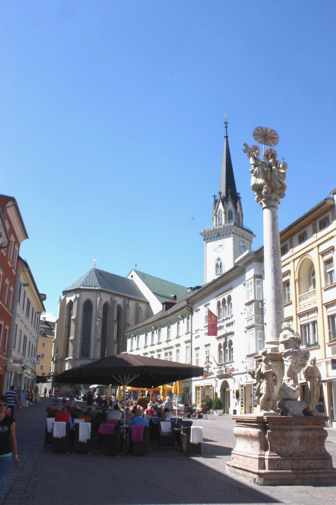 Villach has a Trinity Column dates from 1739, Carinthia, Austria