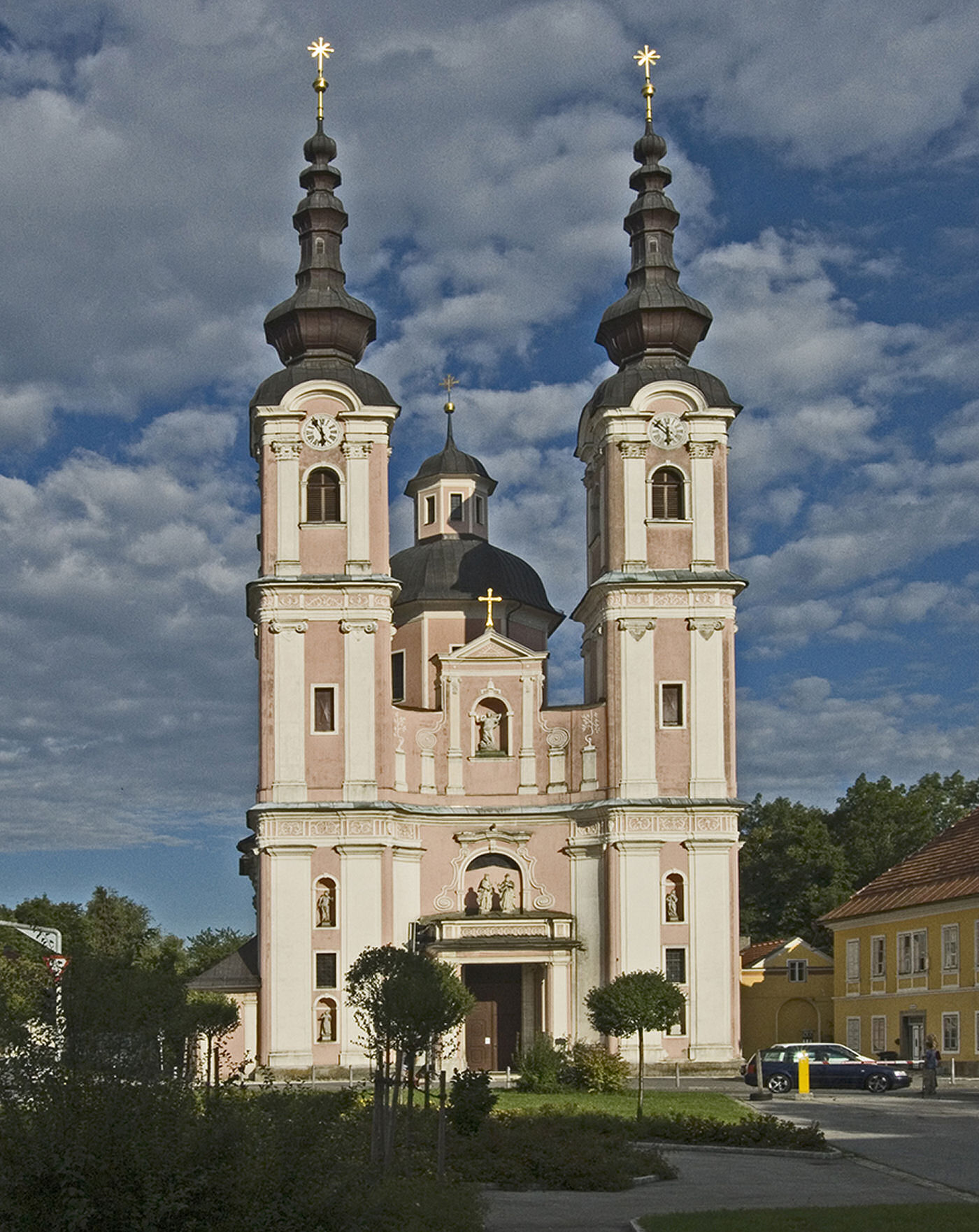 The Heilige Kreuz church is among the most beautiful sacred Baroque-style buildings in Austria