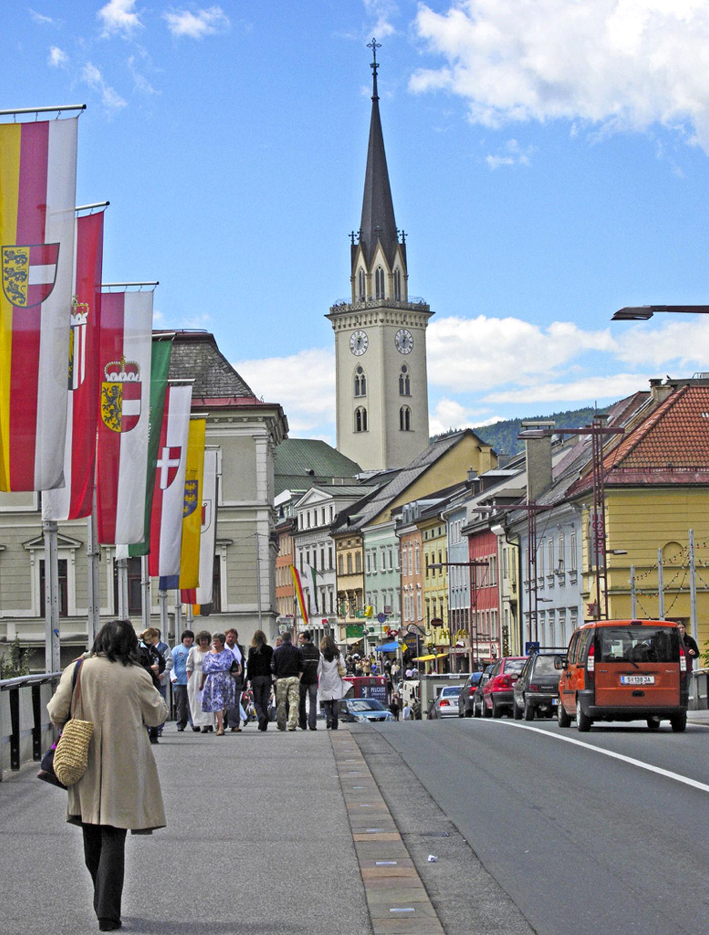 Villach old town called Altstadt, Carinthia, Austria