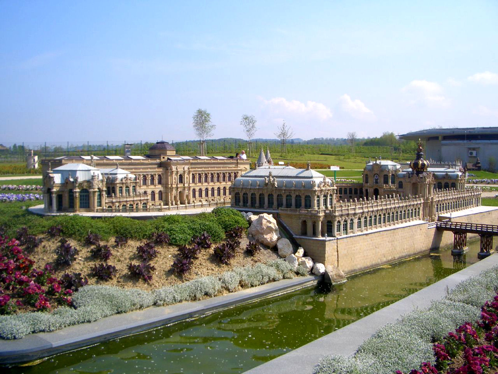 Model of the Dresden's Zwinger palace at Minimundus, Klagenfurt, Austria