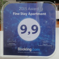Booking dot com Guest Review Award for Fine Stay Apartment