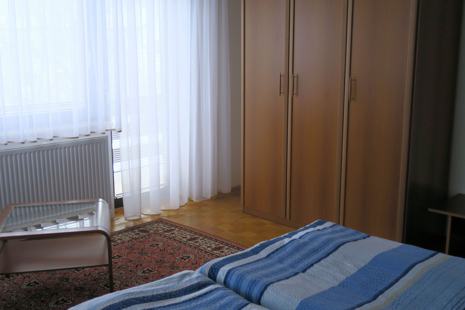 A closet in the first bedroom of the Fine Stay apartment in Lake Bled, Slovenia
