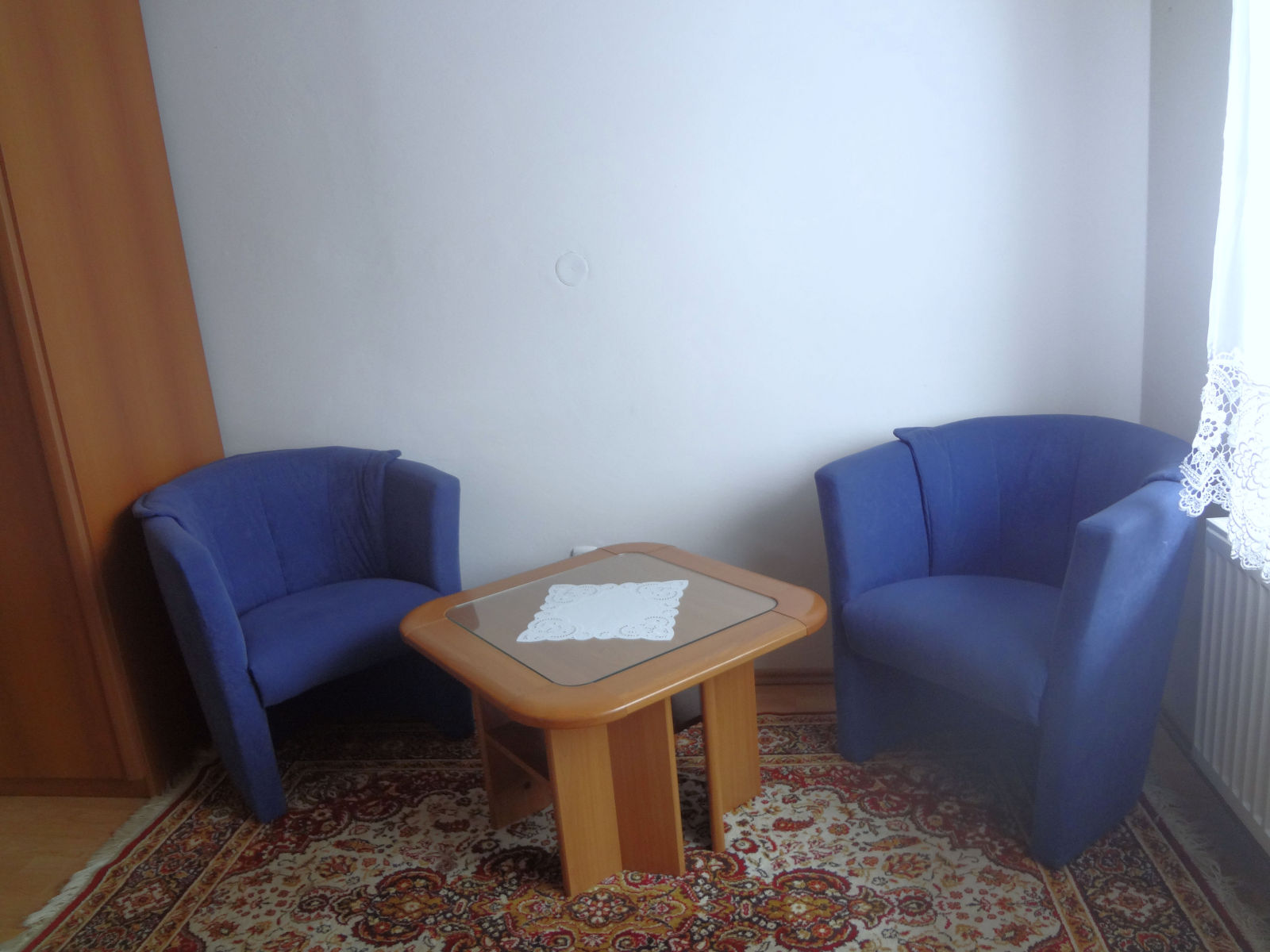 Two armchairs in the second bedroom of the Fine Stay Bled apartment in Lake Bled, Slovenia