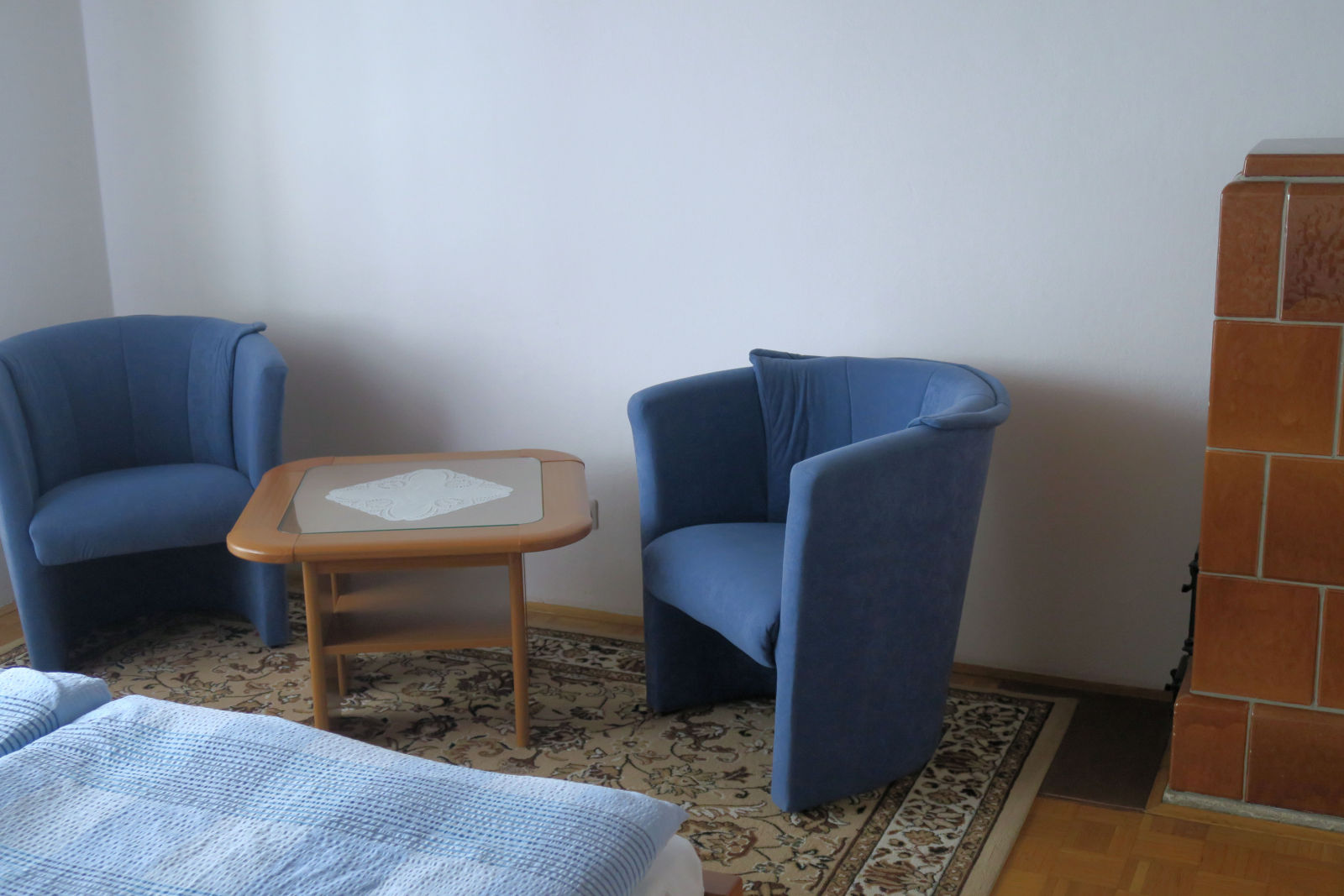 Two armchairs in the second bedroom of the Fine Stay apartment in Lake Bled, Slovenia