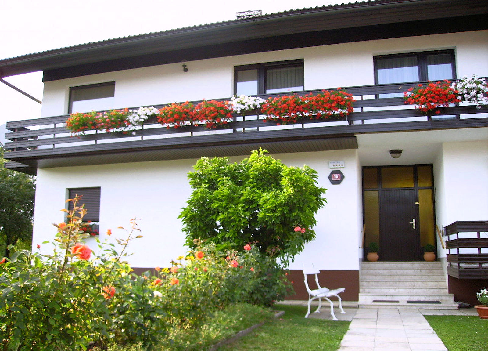 Entrance of the Fine Stay Bled apartment in Lake Bled, Slovenia