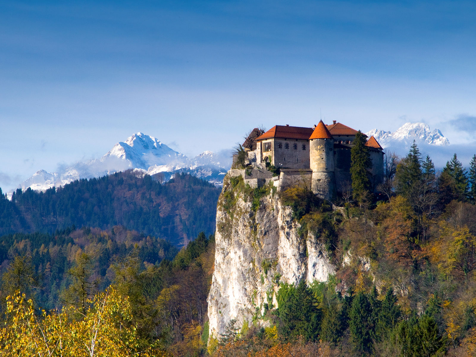 Bled Castle in autumn