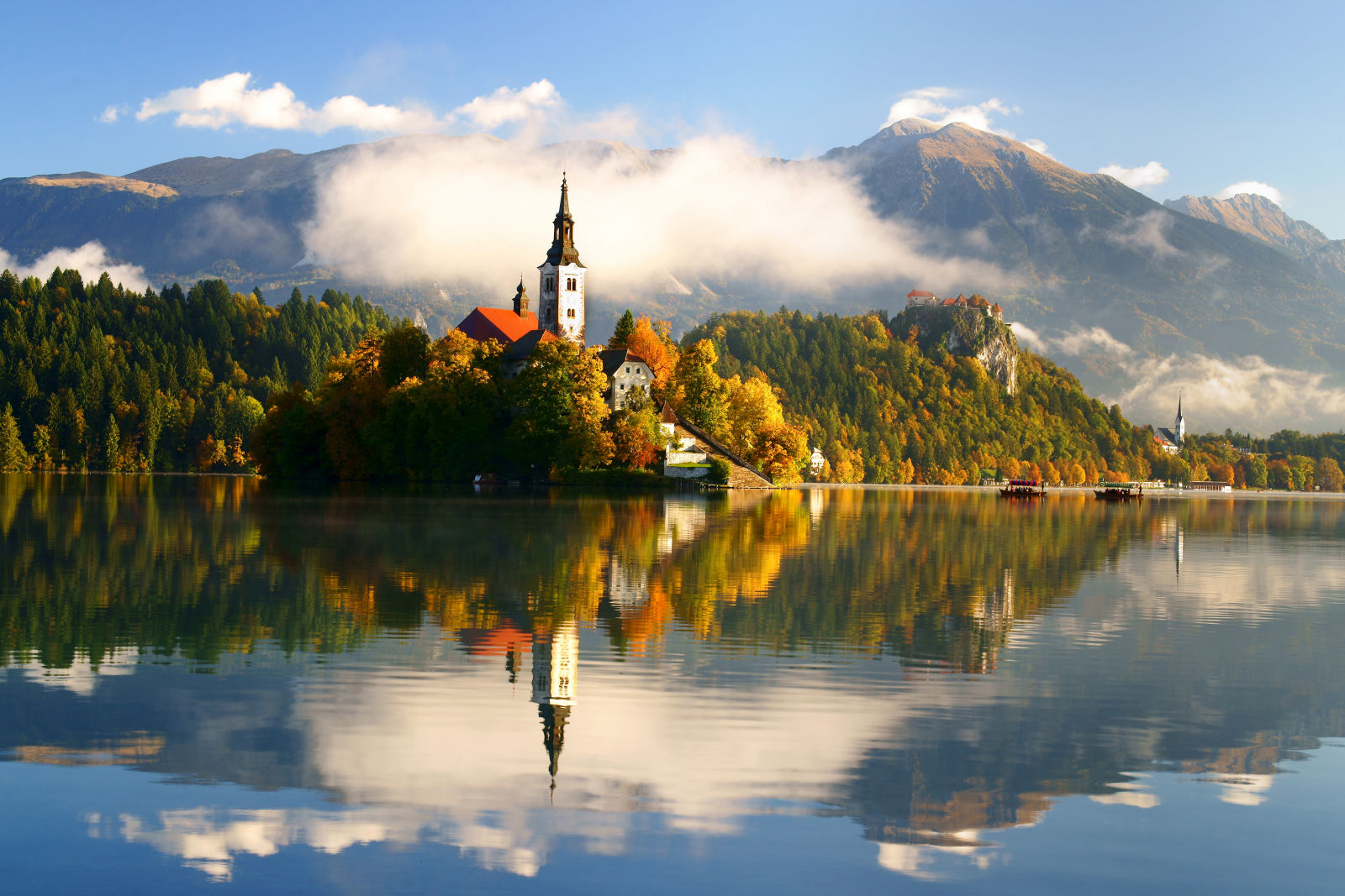 A Photo Gallery With Landscape Photos Of Lake Bled In Slovenia