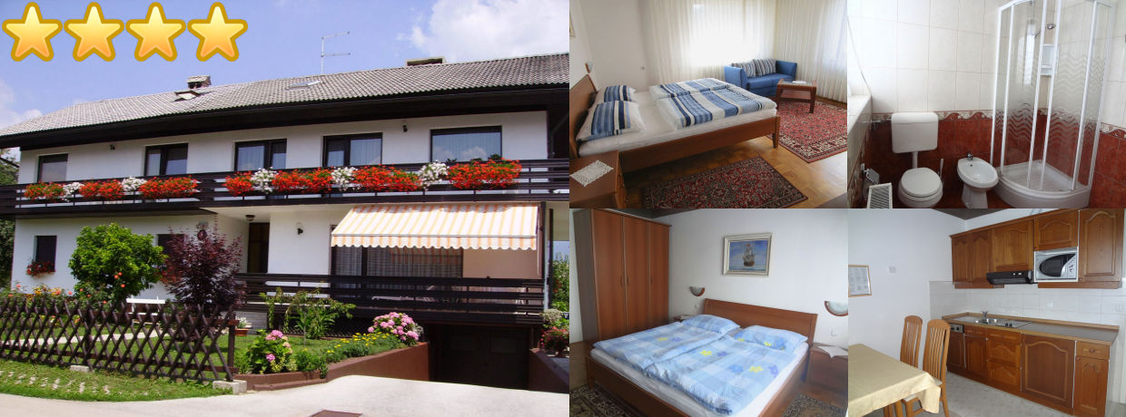Spacious 2 Bedroom Apartment with 2 Balconies and Castle View in Lake Bled, Slovenia