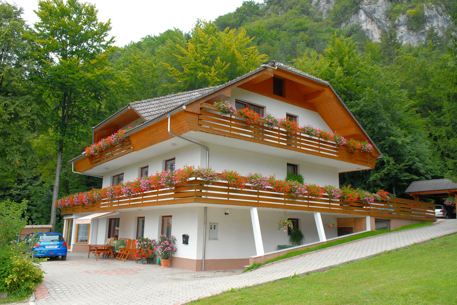 Exterior of the Fine Stay Apartment in the Bled area in Slovenia