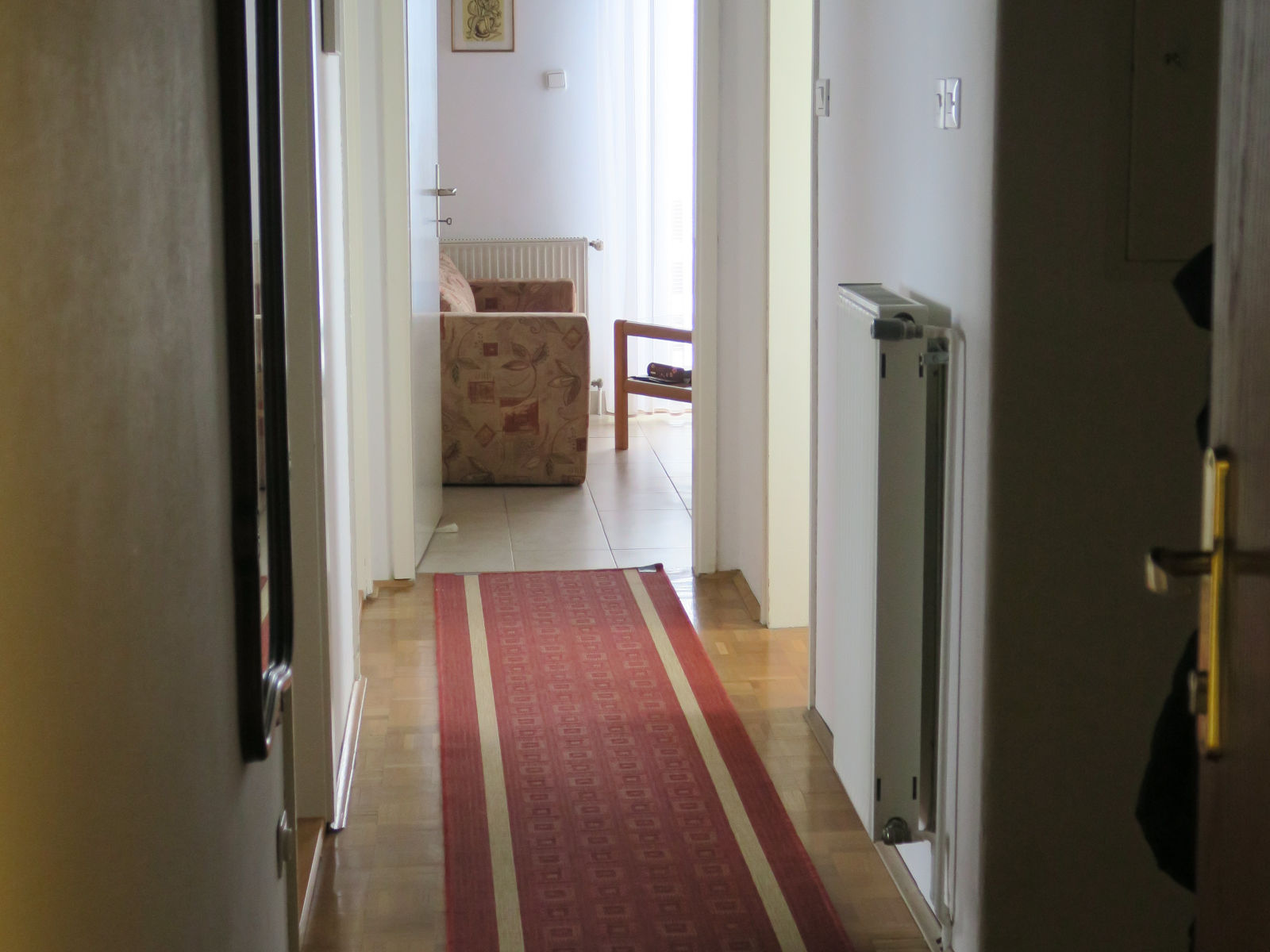 Hallway of the Fine Stay apartment in Lake Bled, Slovenia