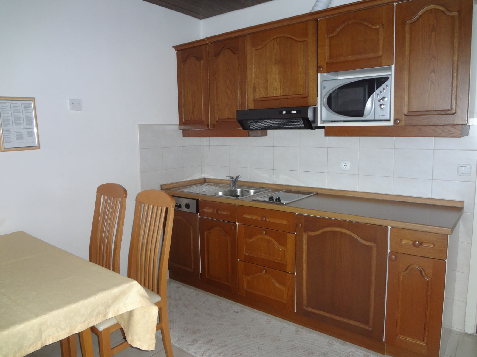 Kitchen of the Fine Stay apartment in Lake Bled, Slovenia
