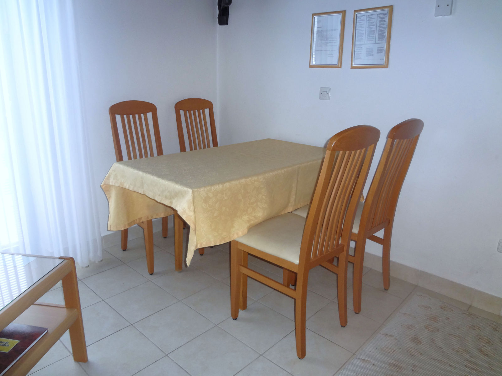 A dinning table of the of the Fine Stay apartment in Lake Bled, Slovenia