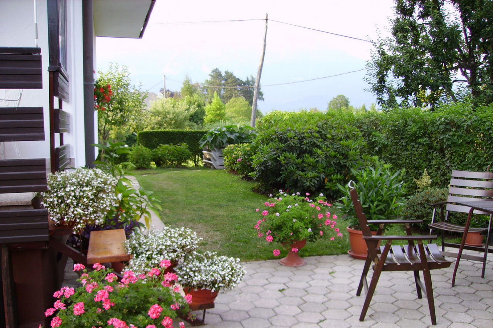 Outside of the Fine Stay apartment in Lake Bled, Slovenia