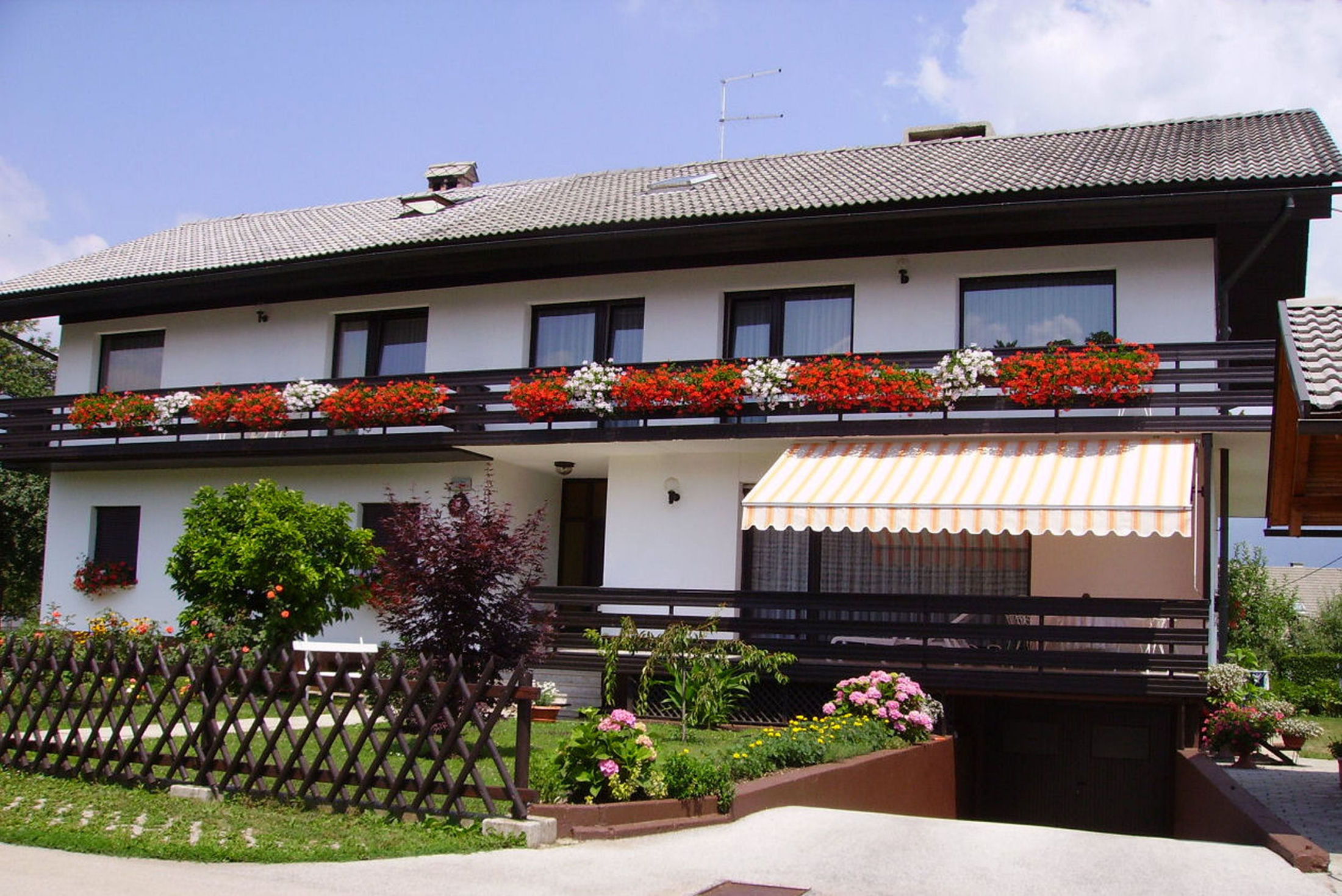 Exterior of the Fine Stay holiday apartments in Lake Bled, Slovenia