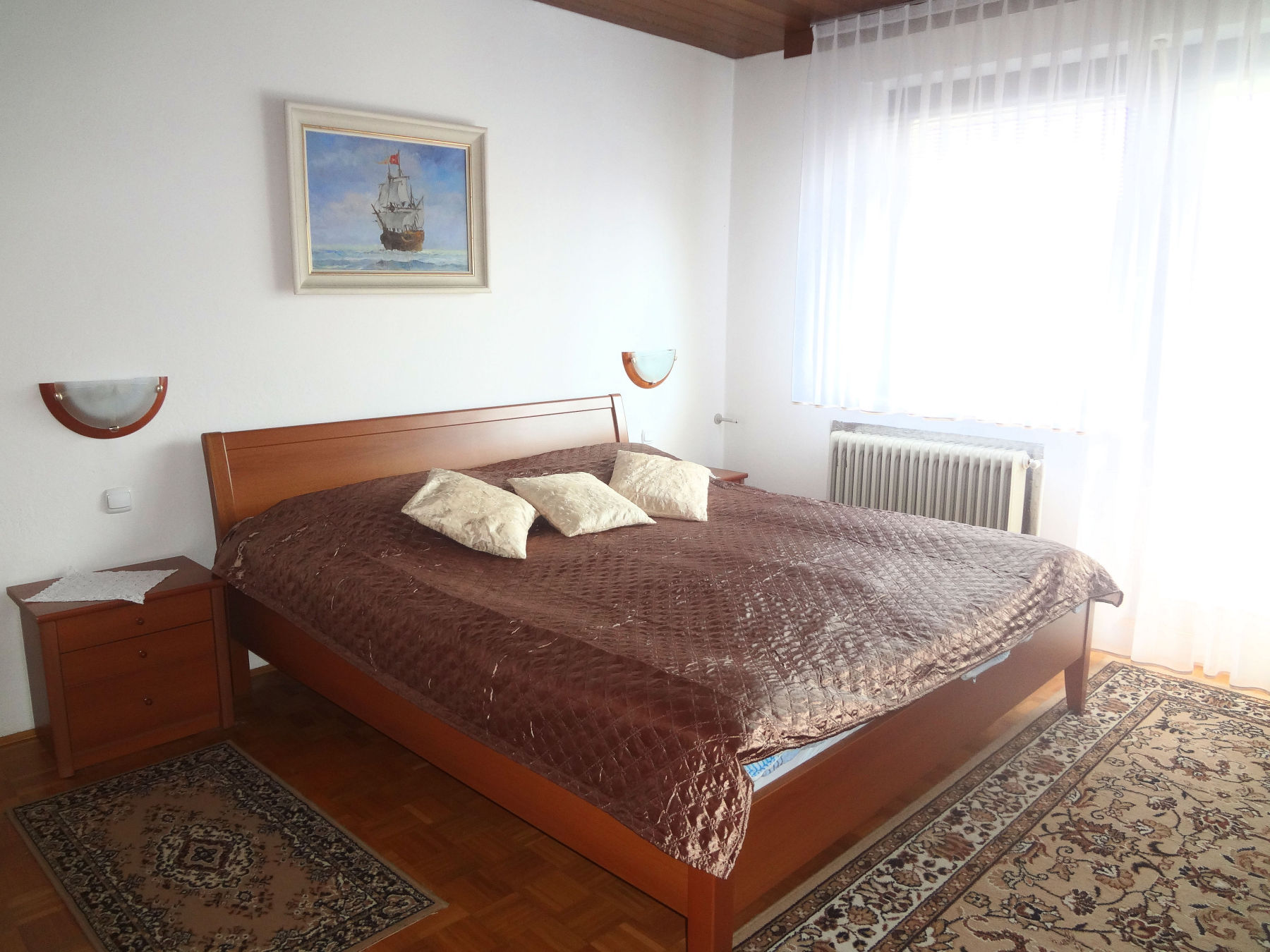 Double bed of the Fine Stay Apartments in Lake Bled, Slovenia