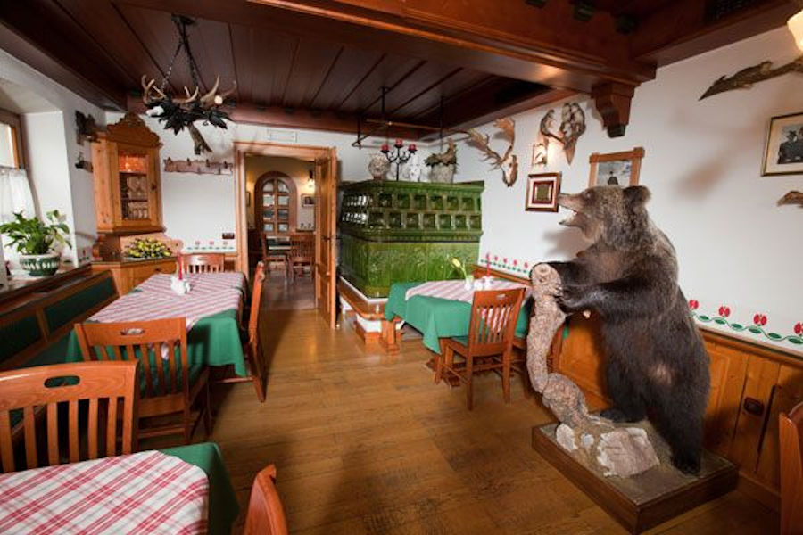 Interior of the Restaurant Tulipan in Lesce, the Bled area of Slovenia