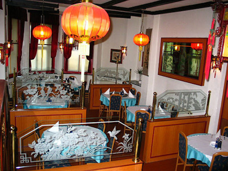 Interior of the Chinese Restaurant Peking in Lake Bled, Slovenia