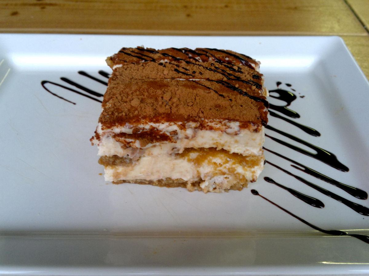 A dessert cake at the Grajska Plaza Restaurant and Cafe in Lake Bled, Slovenia