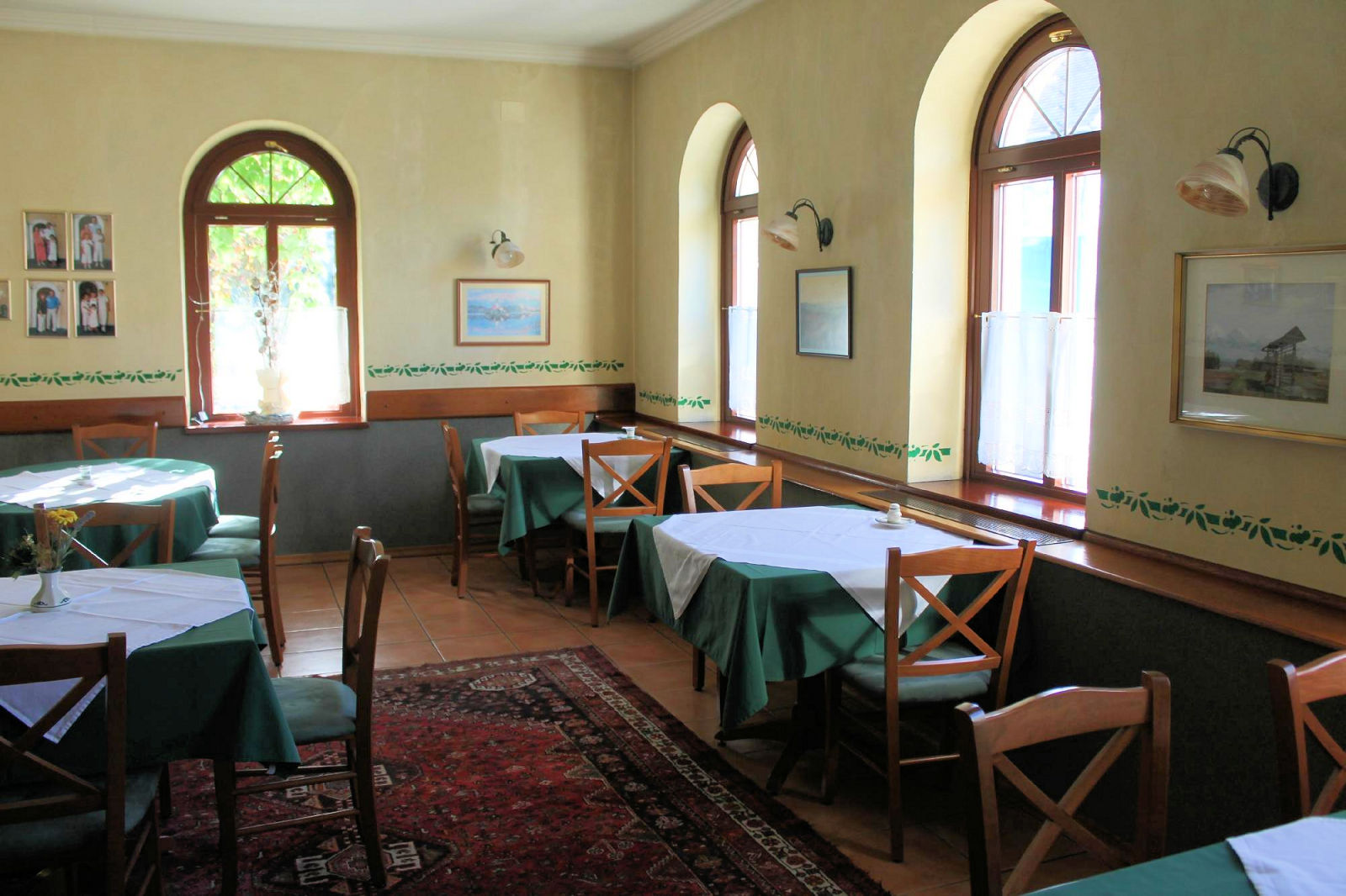 Interior of the Gostilna Union Restaurant and Bar in Lake Bled, Slovenia