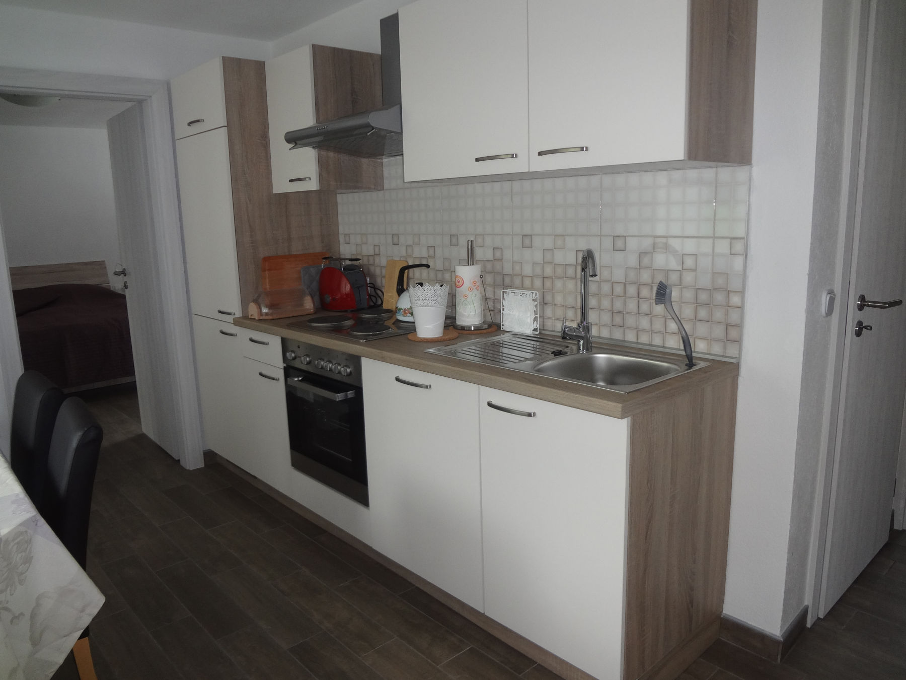 Fully equipped kitchen of the Fine Stay Apartment in the Bled Area of Slovenia
