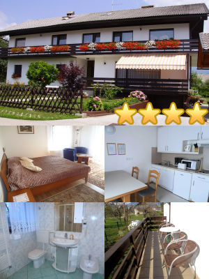 Collage of the Spacious 2 Bedroom Apartment with a Balcony in Lake Bled, Slovenia