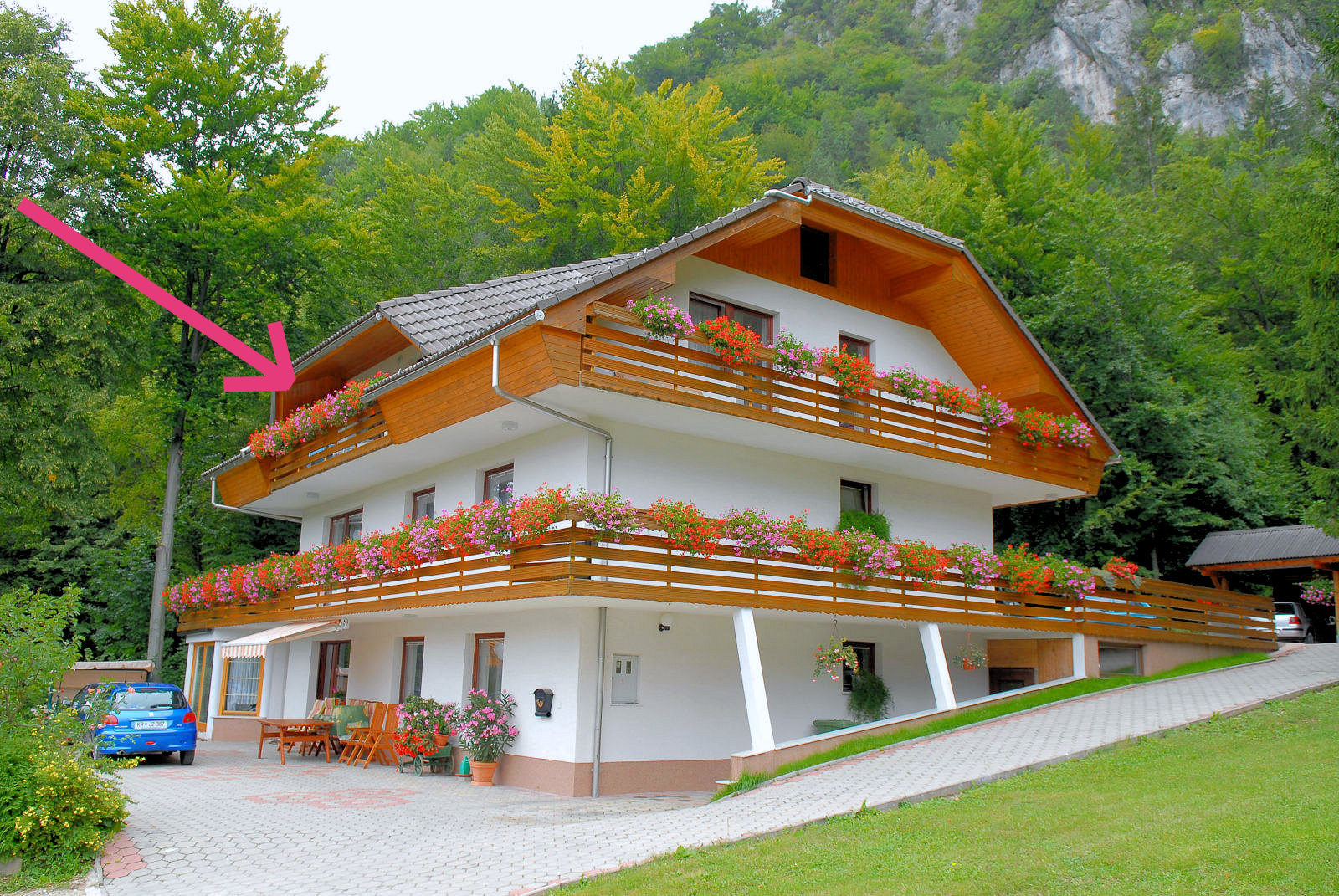 Second balcony of Apartments Fine Stay in the Bled area of Slovenia