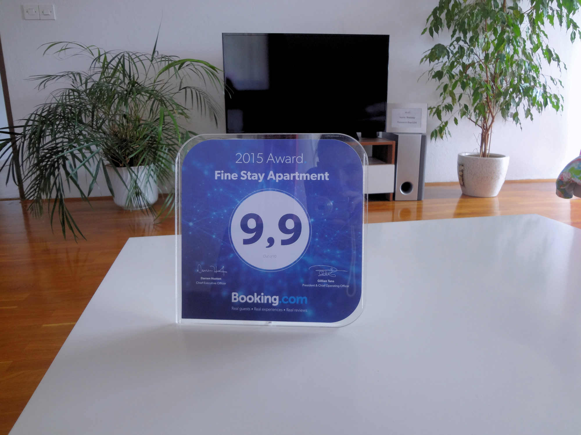 The Booking Guest Award for Apartments Fine Stay in the Bled area of Slovenia