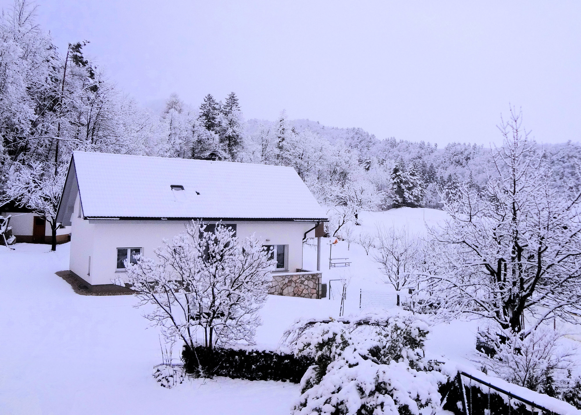 Apartments Fine Stay in the Gorenjska region of Slovenia in winter with snow