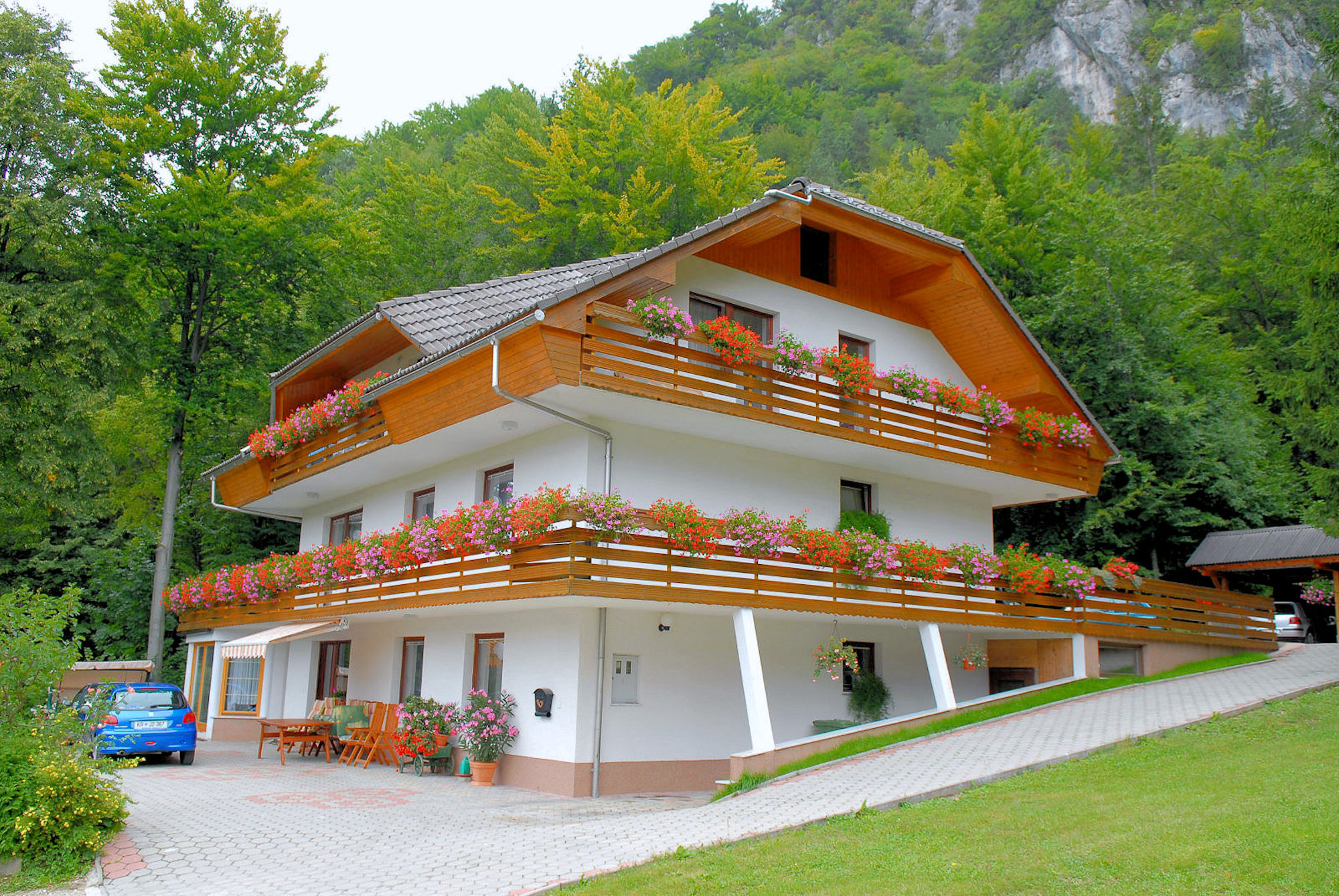 Exterior of the Superior apartment with 3 balconies, Fine Stay Apartments, Slovenia
