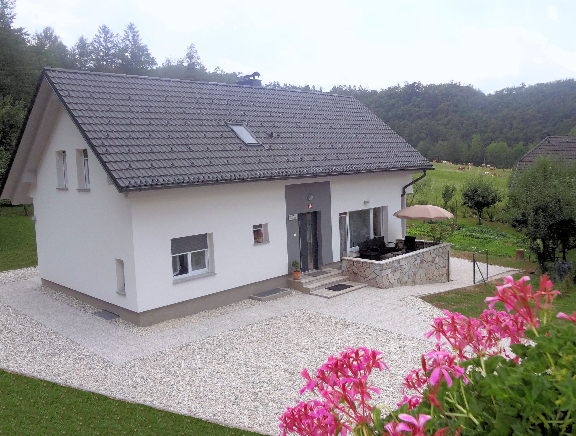 Elevated view of Apartments Fine Stay in the Gorenjska region of Slovenia