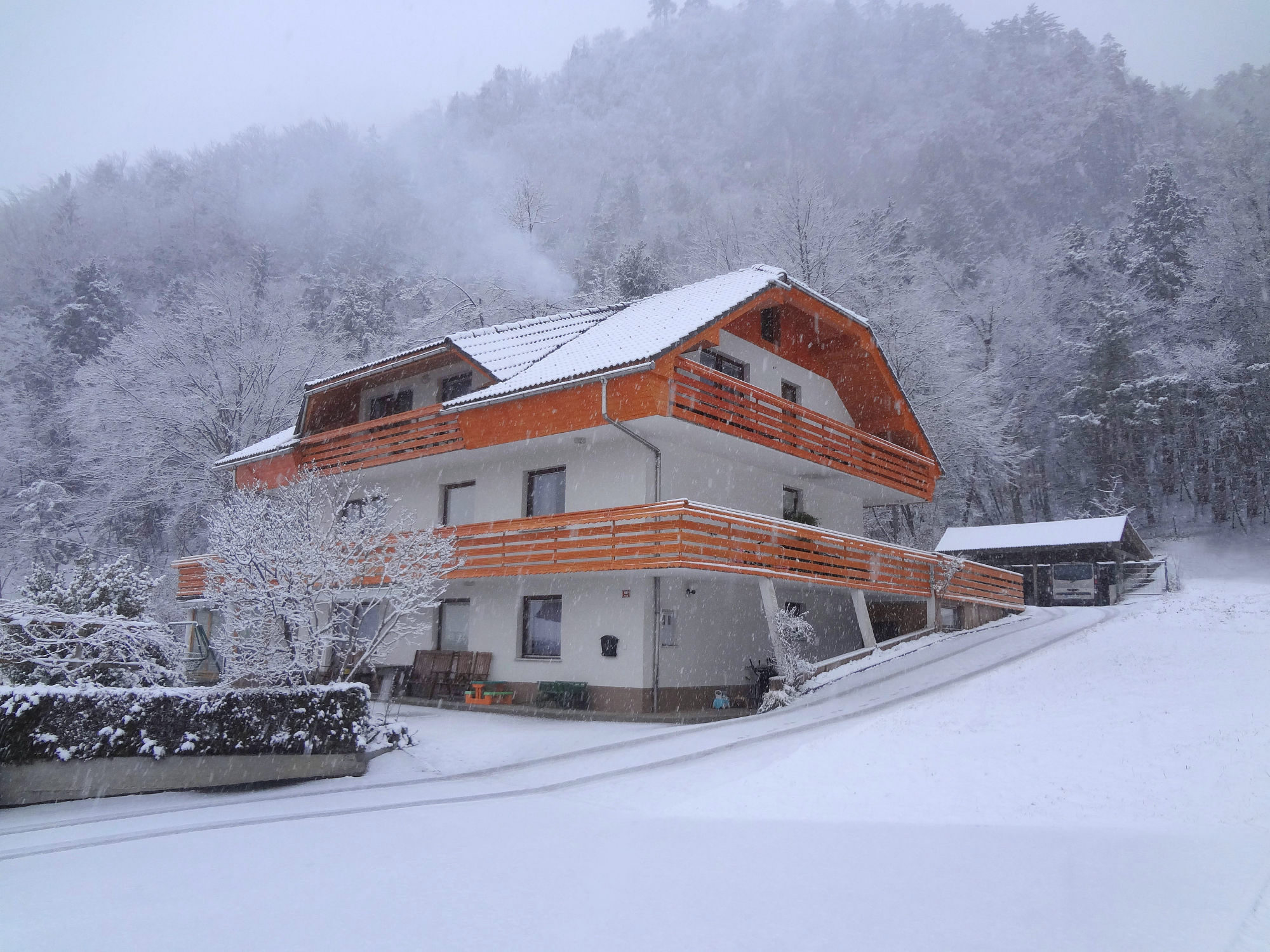 Property No.1 of Apartments Fine Stay in winter during snowing