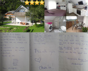 Collage of guestbook entries for Modern Apartment With Balcony