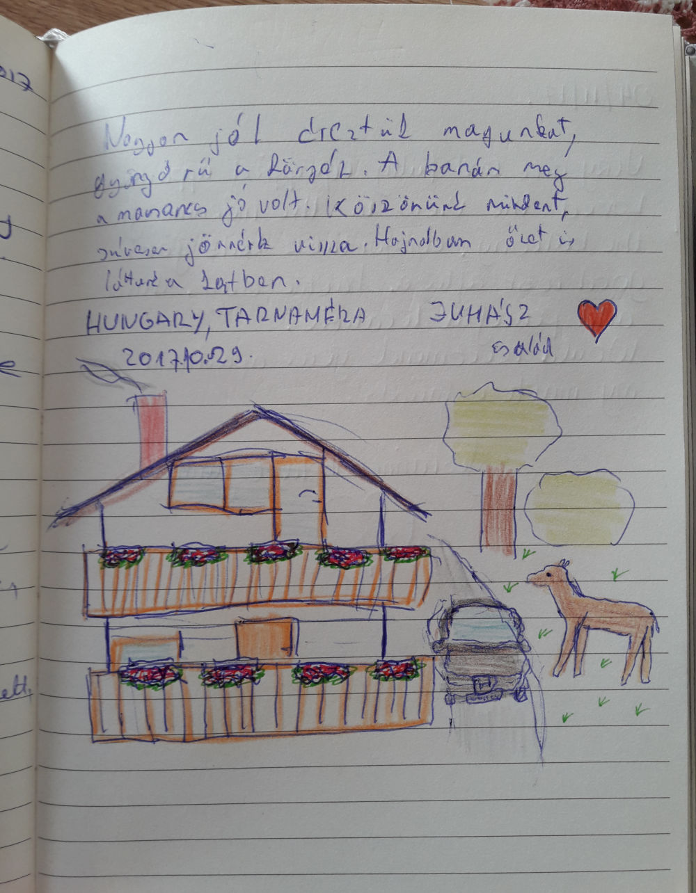 Page 105 of the guestbook we have in the Superior Apartment with 3 Balconies