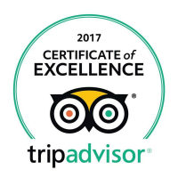 Logo of the Certificate of Excellence 2017 award from Tripadvisor