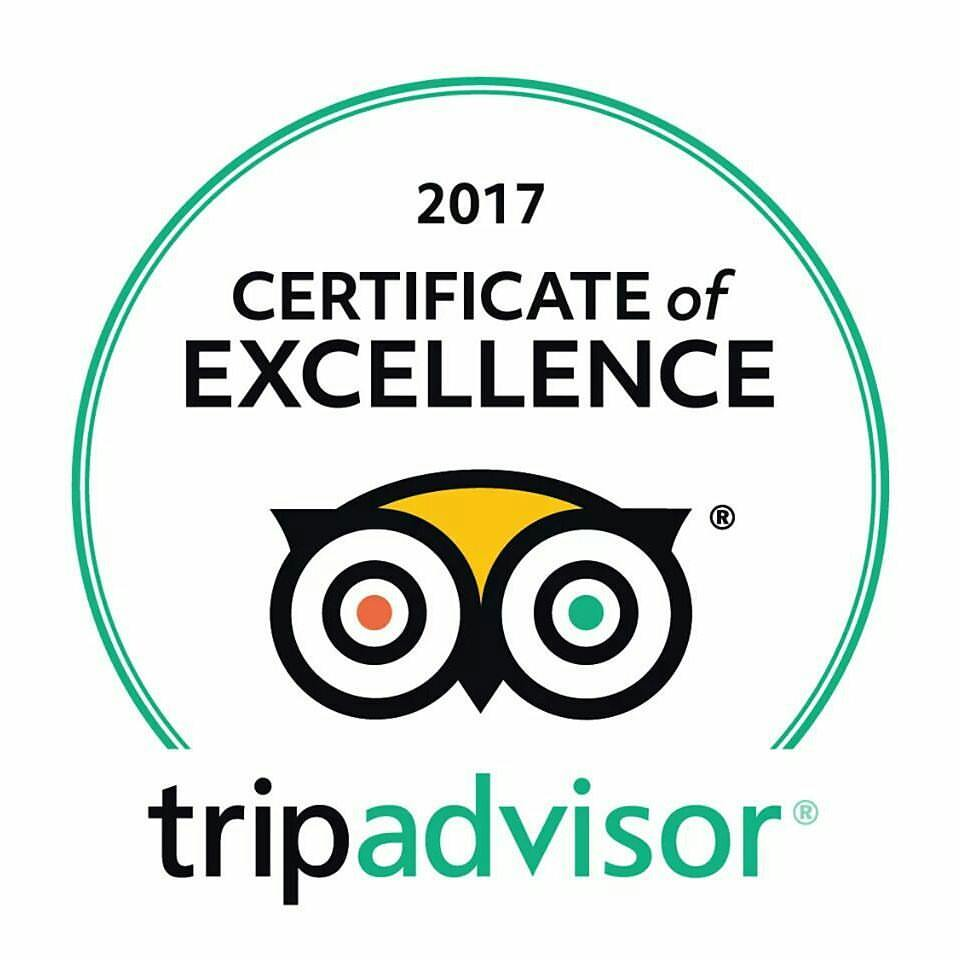 Logo of the Certificate of Excellence award from Tripadvisor