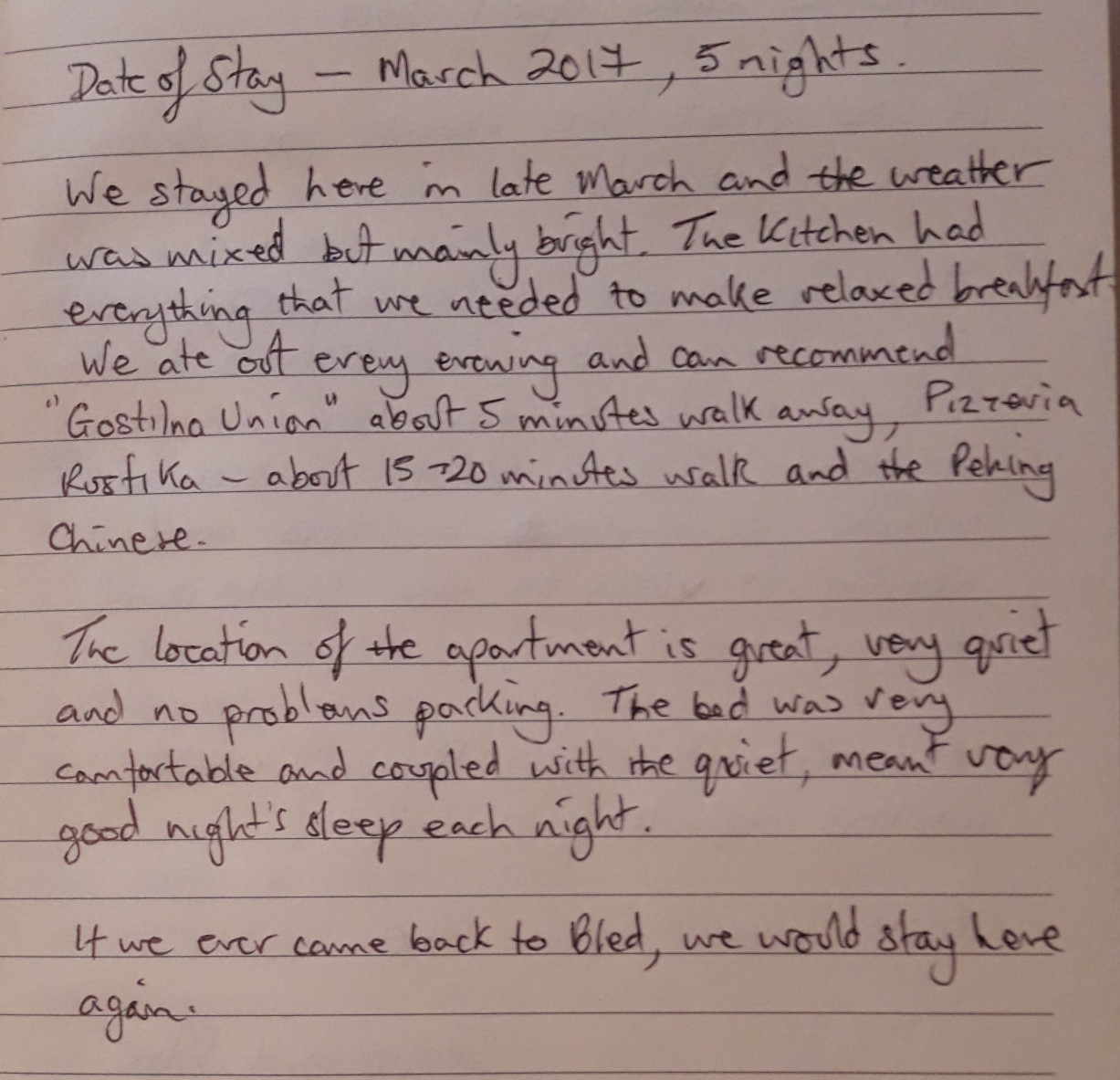 Guestbook Notes - Spacious Apartment With 2 Balconies